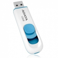 A-data USB Flash Drive 32Gb - C008 Classic White-Blue AC008-32G-RWE 571222